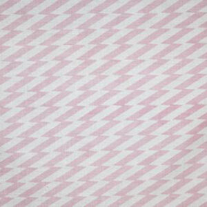 "Virginia White Collection ""Zig Zag"" in Pink"