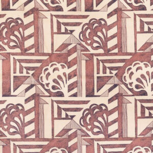 "Whiteworks The JET Fabric Collection ""Deco"" in Bruise"