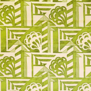 "Whiteworks The JET Fabric Collection ""Deco"" in Green"