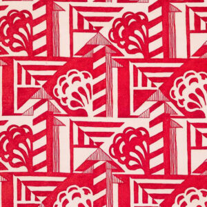 "Whiteworks The JET Fabric Collection ""Deco"" in Red"