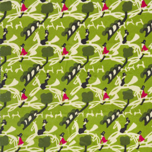 "Whiteworks The JET Fabric Collection ""Hunters Velvet"" in Green"