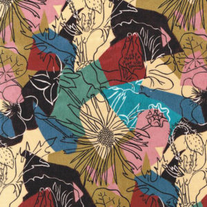 "Whiteworks The JET Fabric Collection ""Patchwork Velvet"" in Patchwork 1"