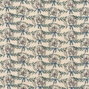 """Whiteworks The JET Fabric Collection """"Posy Linen"""" in Baby Pink & Pink Flower"""