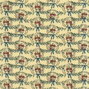 "Whiteworks The JET Fabric Collection ""Posy Linen"" in Yellow & Red Flower"