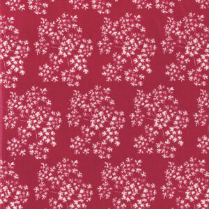 "Whiteworks The JET Fabric Collection ""Queen Anne's Lace Velvet"" in Red"